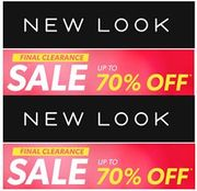 NEW LOOK - Final Clearance is on Now!