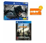 PS4 500GB CALL of DUTY MODERN WARFARE BUNDLE+THE DIVISION 2+NOW TV Only £249