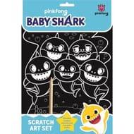 Baby Shark Do Do Do Scratch Art Set Creative Activity for Kids Children