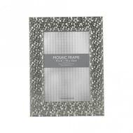 Mosaic 4x6 Inch Silver Photo Frame
