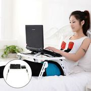Laptop Table Stand Folding Desk Bed Computer Study Adjustable Portable Sofa Tray