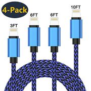 iPhone Charger Cable Lightning Cable 4Pack 3/6/6/10FT