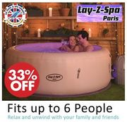 SAVE £204 - Lay-Z-Spa Paris Hot Tub with LED Lights, 4-6 Person