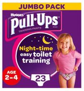 Best Price! Huggies Pull Ups Girls Training Pants for Night Time, 23 Nappies