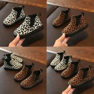 Childrens Leopard Winter Warm Short Boots