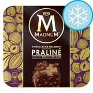 Magnum Chocolate & Hazelnut Praline Ice Cream 3X90ml