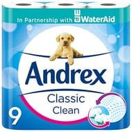 9 Andrex Classic Clean Toilet Rolls (Amazon Pantry)