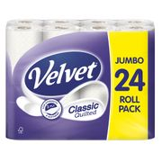Velvet Classic Quilted 24 Toilet Rolls Only £6