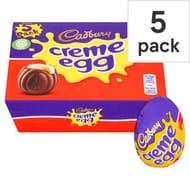 HALF PRICE - Creme Egg and Caramel Egg 5 Packs
