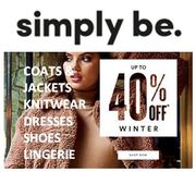 SIMPLY BE - CURVE & plus SIZE - up to 40% off WINTER STYLES