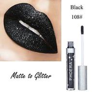 Gaddrt Matte Glitter Liquid Lipstick Waterproof Lip Gloss Makeup
