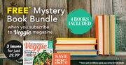 Veggie Magazine - 3 Issues for £9.99 save 33% plus FREE* Mystery Book Bundle