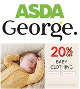 ASDA George - 20% off Baby Clothing