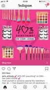 40% off Site Wide, some Great Makeup Items!
