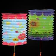 Colourful Flower Concertina Lanterns (10 Pack)