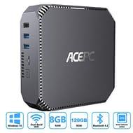 ACEPC AK2 Mini PC Windows 10, 8GB RAM/ 120GB ROM, Intel Celeron J3455