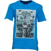 Best Price! Ben Sherman Junior Boys Headlamp Badges T-Shirt Dresden Blue