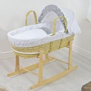 Deluxe Palm Moses Basket & Rocking Stand £33.75