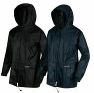 Regatta Mens Stormbreak Waterproof Hooded Jacket Black Blue