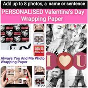 PERSONALISED Valentine's Day Wrapping Paper