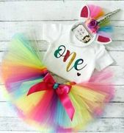 Baby Girl 1st Birthday Unicorn Outfit at ebay