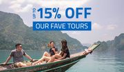 STA Travel - 15% off Selected Tours!