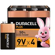 SAVE £4 - Duracell PLUS 9V Alkaline Batteries - for Smoke Alarms Etc. (4 PACK)