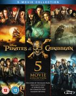 Pirates of the Caribbean: 1-5 Box Set Blu-Ray