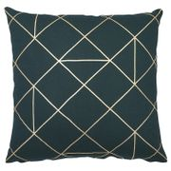 Panaji Geometric Dark Green Cushion  Was £8