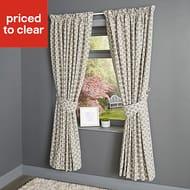 Edeva Grey Diamond Lined Pencil Pleat Curtains (W)117cm (L)137cmWas£65