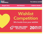 Win one of Five Books From Their Wishlist Up To £100.