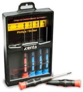 Xenta 6 Piece Precision Screwdriver Set (Round Blade 60mm)