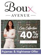 Cosy Pyjamas & Nightwear SALE - some at 40% off at Boux Avenue