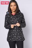 *SAVE £45* Regatta Bertille Black Feather Waterproof Jacket