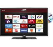"*SAVE £20* JVC 24"" Smart HD Ready LED TV with Built-in DVD Player"