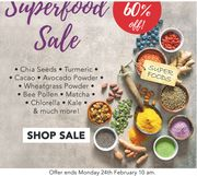 Superfoods SALE! Up To 60% OFF!