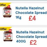 NUTELLA Hazelnut Chocolate Spread - Offers for 400g & 1kg.