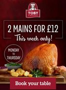 2 Mains for £12