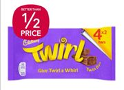 £1 for a 4-Pack (4x2) of Cadbury Twirl at Co-Op