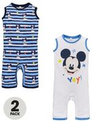 Mickey Mouse Baby Boys 2 Pack Rompers