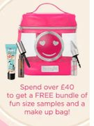 Benefit - FREE Bundle Of Fun With £40 Spend Inc Make up Bag + Free Delivery!