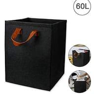 Lyeiaa 60L Large Laundry Bag Laundry Basket Hampers Waterproof Felt Cotton