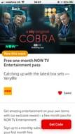 Free 1 Months Now Tv Entertainment Pass on Vodaphone Very Me Rewards