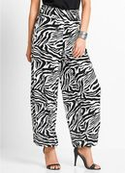 Black Printed Viscose Hareem Trousers