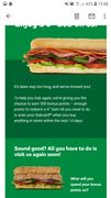 Free Subway in Email.