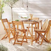 Madeira Butterfly Folding Table & Folding Chairs