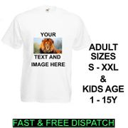 Personalised T-Shirt Custom Image / Text Printed Stag Hen Do Party Kids Boy Girl