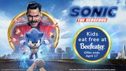 Kids Eat Free at Any Beefeater Restaurant When You Book to See 'Sonic Movie'