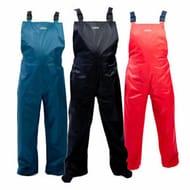 Climb 8 Foxford Waterproof Bib over Trousers Black Red Blue