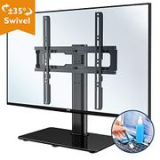 Swivel Table Top TV Stand for 26-55 LED OLED LCD Plasma Flat Curved Screens